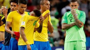 失望的巴西球員 2018年7月6日 俄羅斯足球世界盃