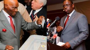 Tsohon shugaban kasar Senegal Abdoulaye Wade da Zababben shugaban kasa Macky Sall