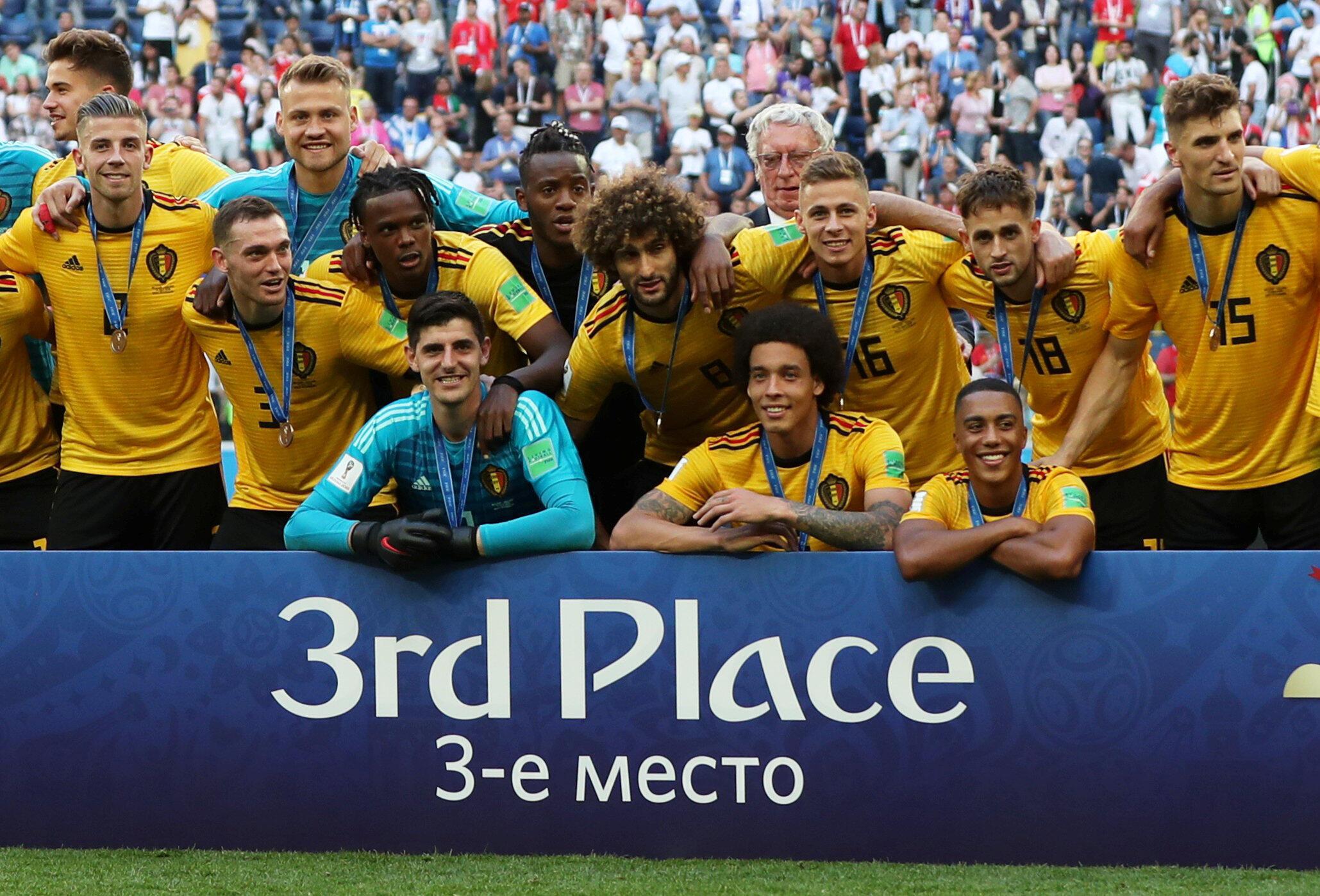Đội tuyển Bỉ chiến thắng đội Anh và giành vị trí thứ ba tại giải Vô địch Thế giới 2018, sân Saint-Peterburg, ngày 14/07/2018.