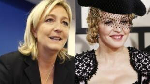 Marine Le Pen aceita o convite de Madonna.