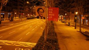 Espagne - Catalogne - Elections régionales - Covid-19 - Affiche2021-02-11T085941Z_558436212_RC28QL9KO2F2_RTRMADP_3_HEALTH-CORONAVIRUS-SPAIN-CATALONIA