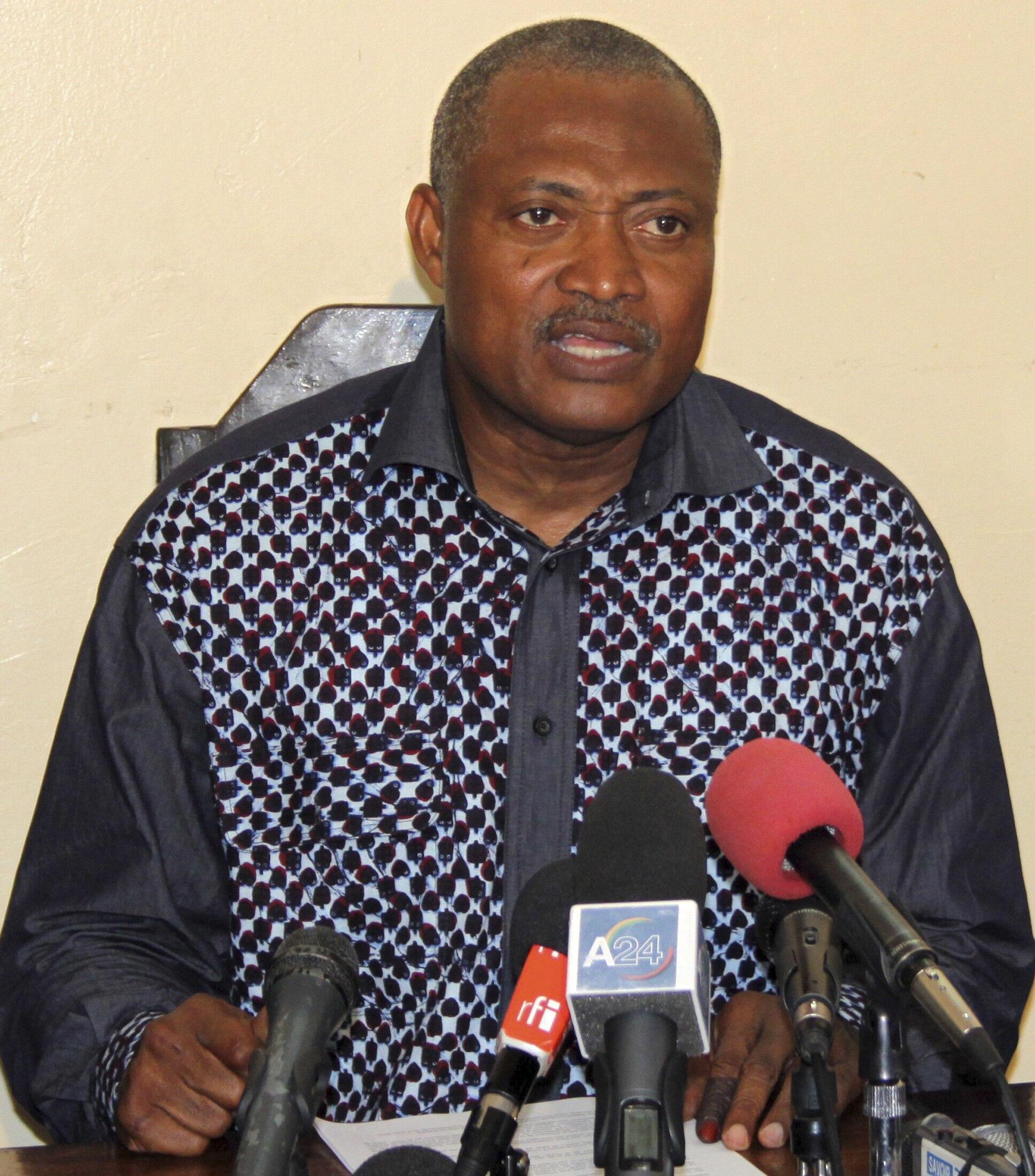 Jean-Pierre Fabre,  président de l'ANC, l'Alliance nationale pour le changement au Togo.