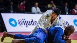 Le Japonais Kokoro Kageura, tombeur de Teddy Riner lors du Grand Slam de Paris, le 9 février 2020.
