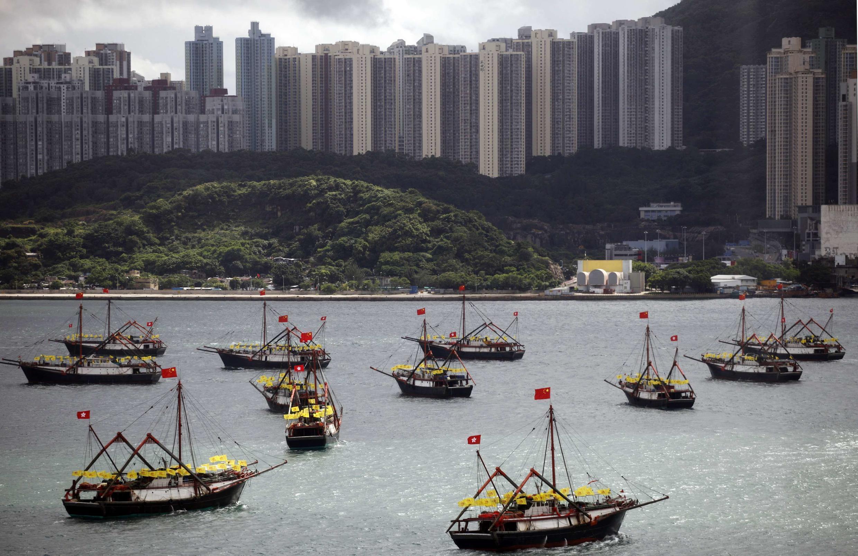 2012年7月1日香港维多利亚港一瞥
