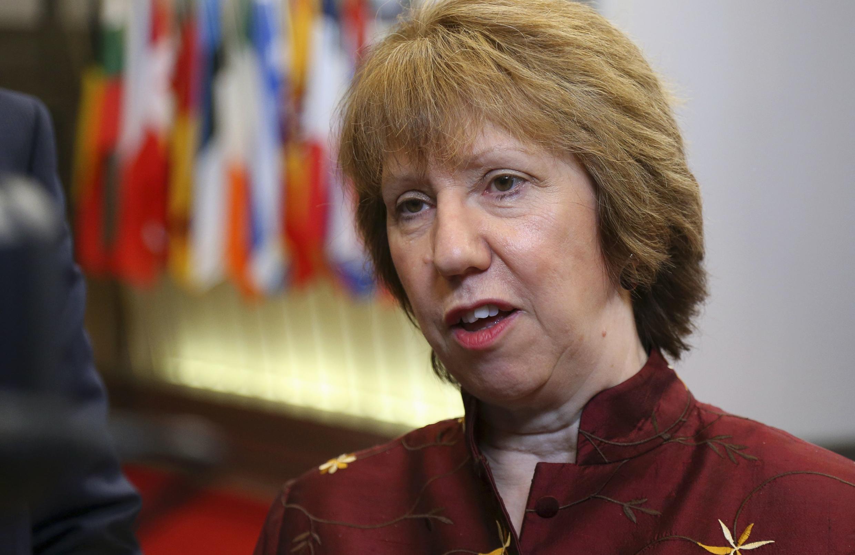 A chefe da diplomacia europeia, Catherine Ashton.