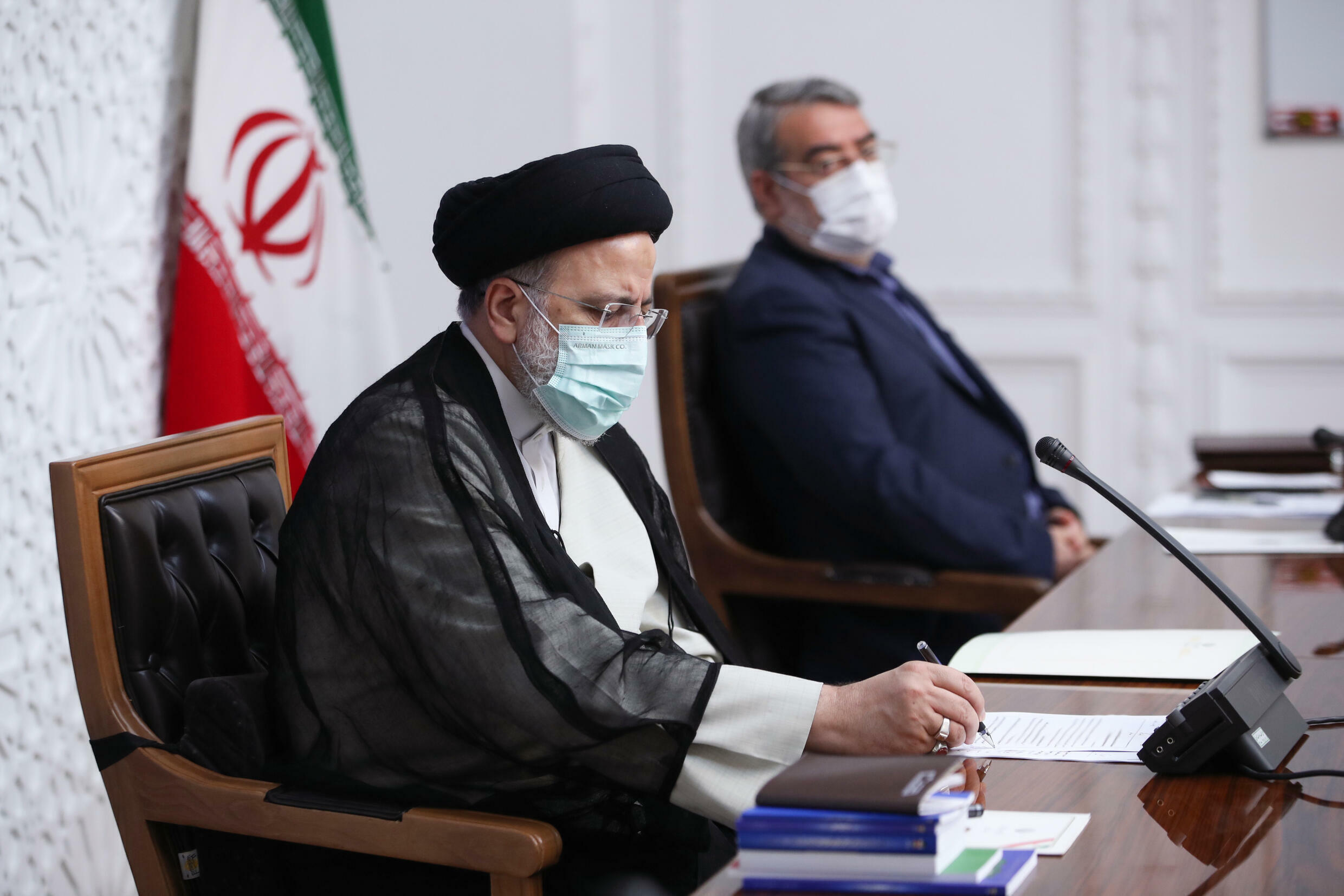 New President Ebrahim Raisi chairs a meeting of Iran's Covid task force for the first time just a day after his inauguration