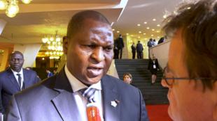 Le président centrafricain, Faustin-Archange Touadéra, interviewé par Christophe Boisbouvier à Erevan, le 11 octobre 2018, après son discours à la tribune du sommet de la Francophonie.