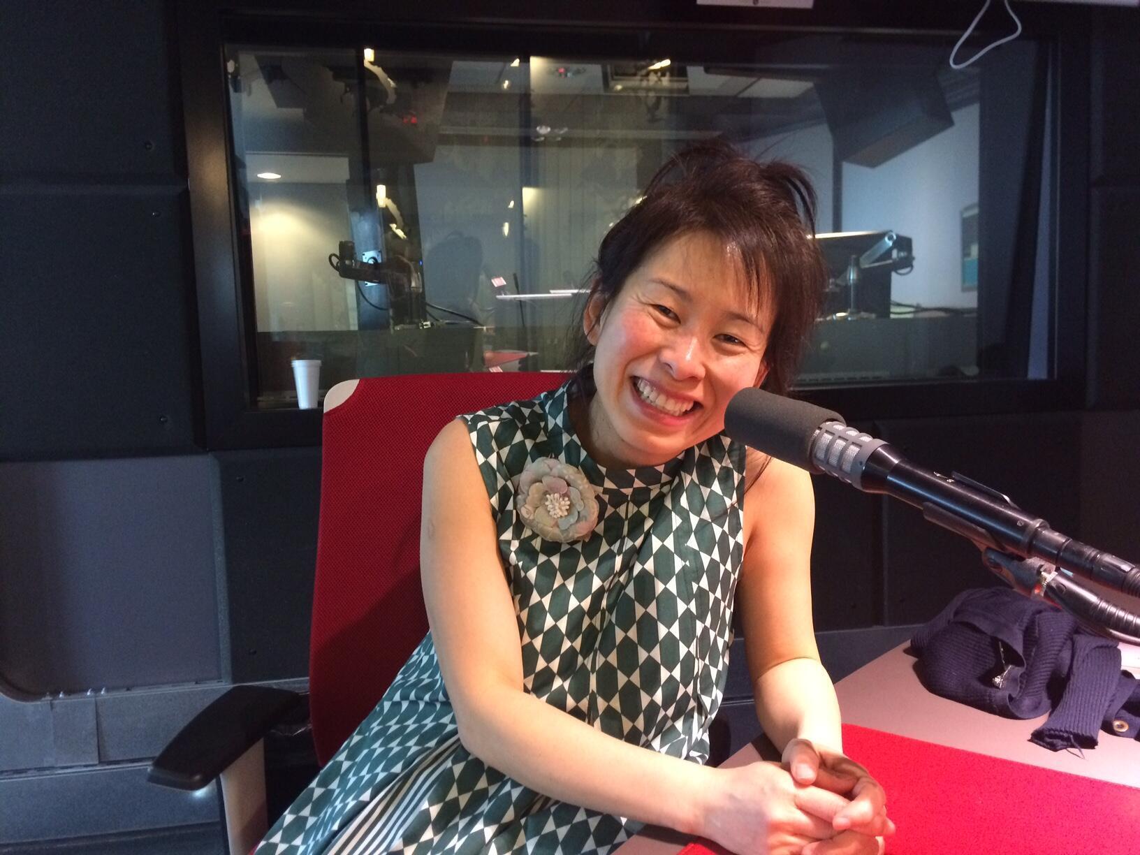 Kim Thuy dans les studios de RFI.