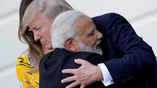 美國總統特朗普與印度總理莫迪 2017年6月26日