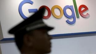 美国科技巨头谷歌标识资料图片