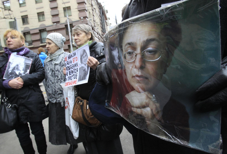 6-я годовщина убийства Анны Политковской. Москва 07/10/2012