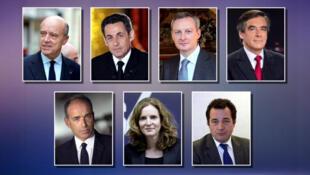 """هفت نامزدِ حزبِ """"جمهوری خواهان"""" در فرانسه، برای گزینش نامزد رسمی این حزب در انتخابات ریاست جمهوری این کشور."""