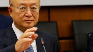 Tổng giám đốc AIEA, ông Yukiya Amano, tại cuộc họp ở Vienna, Áo, ngày 4/6/2018.