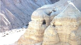 Near Qumran, where the original Dead Sea Scrolls were discovered in the 1940s