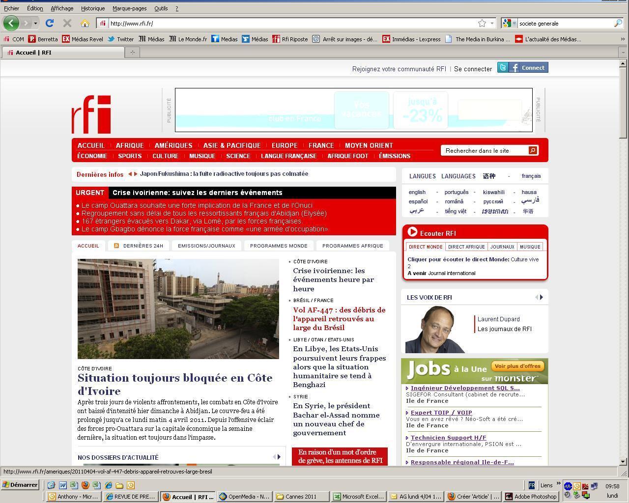 Rfi.fr au premier rang des sites d'information