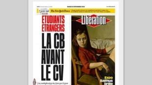 O jornal Libération traz em manchete o aumento dos custos da universidade francesa para estudantes estrangeiros.