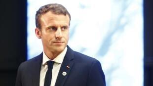 O Presidente francês Emmanuel Macron (imagem de ilustração )