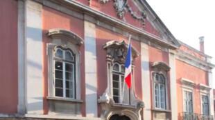 Façade de l'ambassade française de Lisbonne, le palais de Santos.
