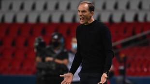 L'entraîneur du Paris-SG, Thomas Tuchel, lors du match de Ligue 1 face à Marseille, au Parc de Princes, le 13 septembre 2020