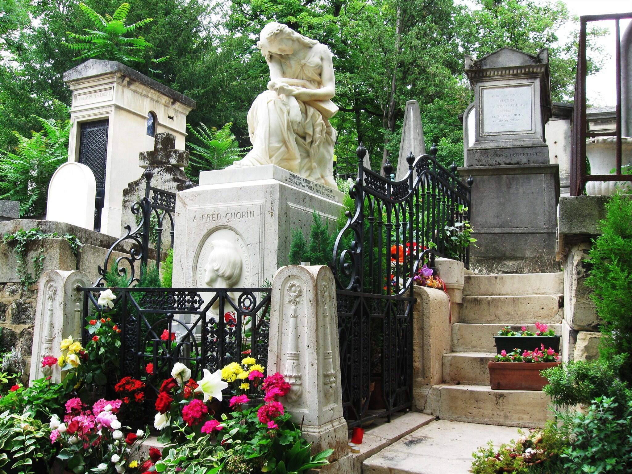 巴黎拉雪茲神父公墓里鋼琴家肖邦之墓