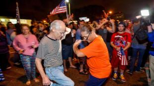 شادی در خیابانهای شهر میامی، بعد از مرگ فیدل کاسترو