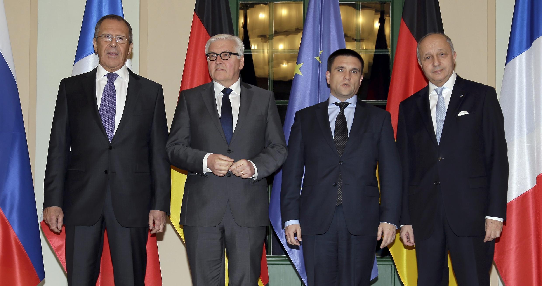 Главы МИД России, Германии, Украины и Франции на совещании в Берлине 21/01/2015