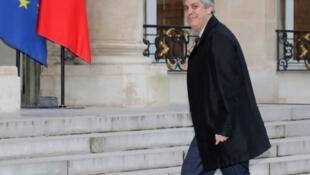 Mário Centeno no Palácio do Eliseu, 11 de Janeiro 2018.