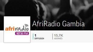 Afri Radio Gambie est une station de radio généraliste gambienne (capture d'écran).