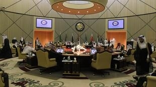 Les ministres des Affaires étrangères du Conseil de coopération du Golfe, à Riyad , le 3 avril 2011.