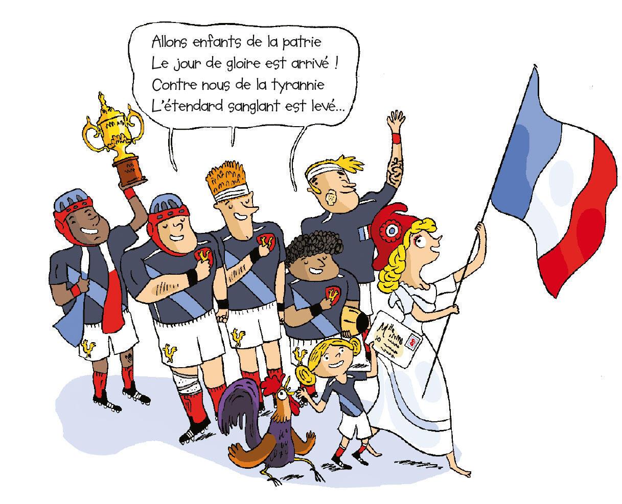 Les symboles de la France sont le drapeau bleu, blanc, rouge et La Marseillaise.