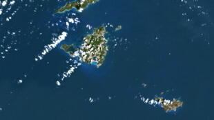 Saint-Martin et Saint-Barthélémy dans les Antilles françaises.