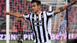 L'attaquant argentin de la Juventus, Paulo Dybala, buteur lors du match de Serie A à Bologne, le 23 mai 2021