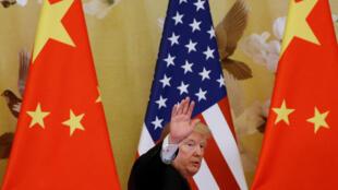 特朗普2017年11月9日在北京人民大會堂