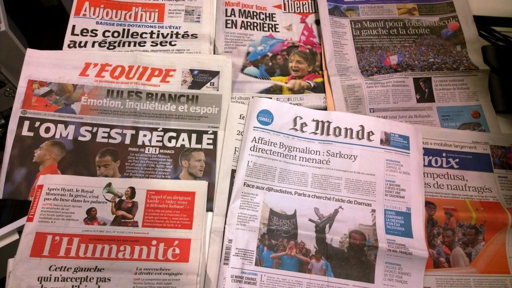 Diários franceses 06/10/2014