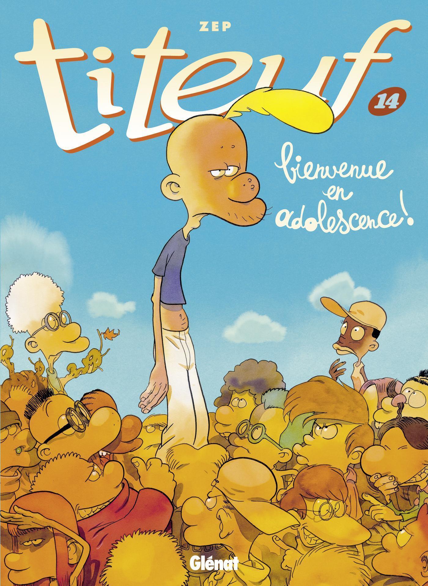 Couverture du Tome 14 de Titeuf «Bienvenue en adolescence» par ZEP.