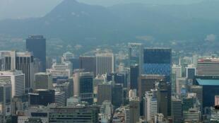 Le centre-ville de Séoul, en Corée du Sud.