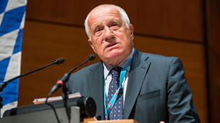 Since the coronavirus pandemic began, former Czech president Vaclav Klaus (pictured September 2017) has repeatedly appeared in public without the mandatory face mask