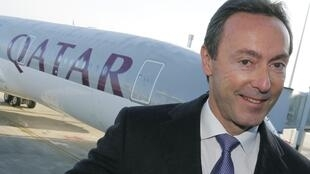 Airbus chief Fabrice Bregier during the delivering of the A350 plane to Qatar Airways in Toulouse on 22 December 2014.