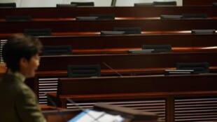 香港特首林郑月娥发表施政报告资料图片