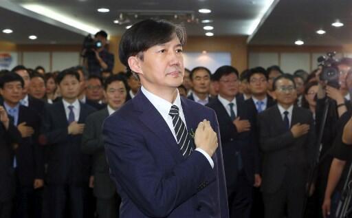 Cho Kuk, le nouveau ministre de la Justice sud-coréen lors de sa prise de fonction, lundi 9 septembre 2019.