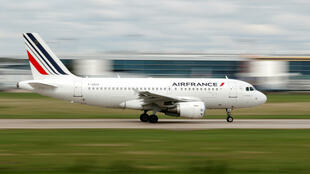 An Air France plane taokes off from Paris Orly airport last month