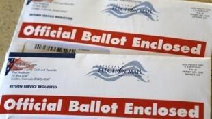 Papeleta electoral del estado de Colorado.