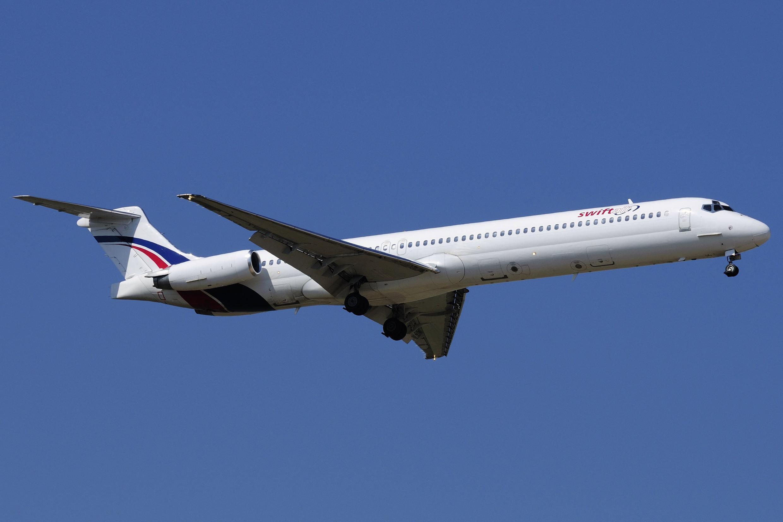 avion swiftair espagnol loué par la compagnie algérienne