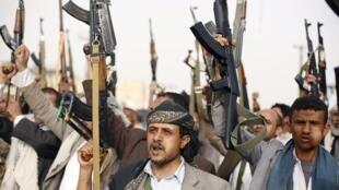 Wasu daga cikin mayakan Huthi na Yemen
