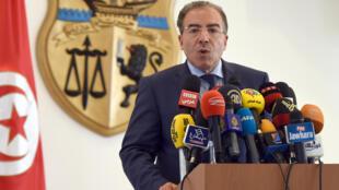 Le Tunisien Mongi Hamdi, chef de la Minusma, lors d'une conférence de presse le 30 juillet 2014.