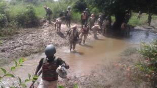 Wasu daga cikin sojojin da ke yaki da Boko Haram
