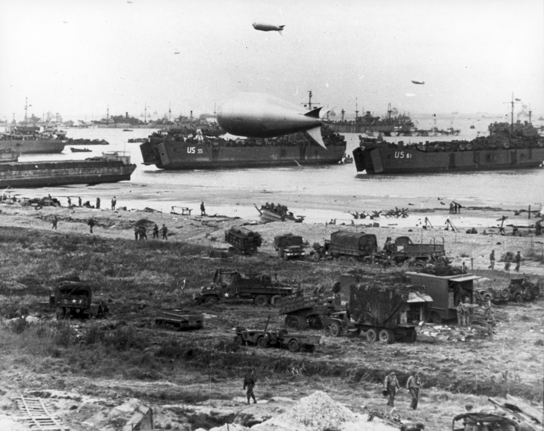 6 juin 1944, Arromanches, Normandie (France).