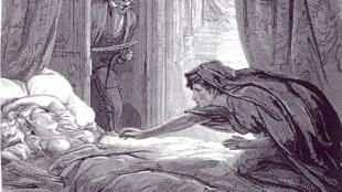 Illustration de «Carmilla», de Joseph Sheridan Le Fanu.
