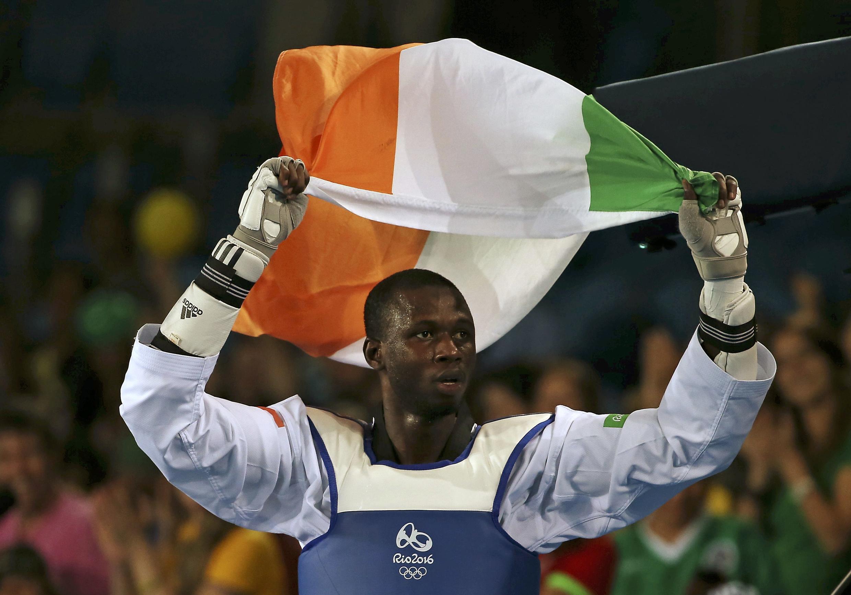 Le taekwondoïste Issoufou Alfaga Abdoulrazak, le 20 août 2016, aux Jeux de Rio.