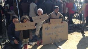 Manifestacion de apoyo de solidaridad con Bélgica después de los atentados. Muchos sirios huyen del terrorismo del Estado Islámico en Siria.